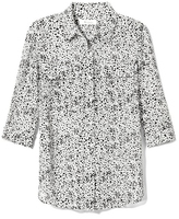 Vince Camuto Two by Dot-Print Utility Shirt