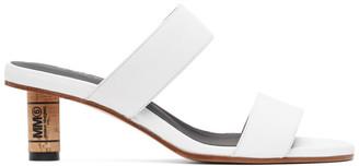 MM6 MAISON MARGIELA White Cork Heeled Sandals