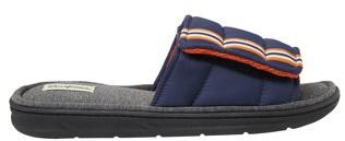 Dearfoams Men's Quilted Adjustable Strap Slide Slippers
