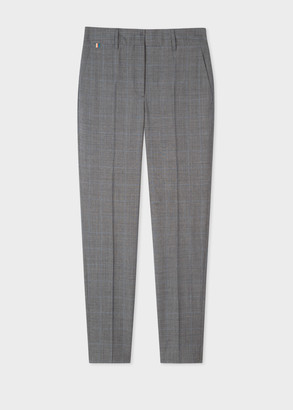 Paul Smith Women's Classic-Fit Grey Glen Check Wool Pants