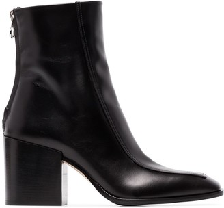 AEYDĒ Lidia 80mm leather ankle boots