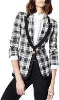 Smythe Taped Plaid Peak Lapel Blazer