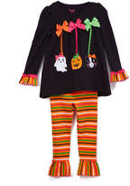 Orange Halloween Tunic & Leggings Set - Toddler & Girls