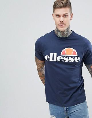 Ellesse Prado t-shirt with large logo in navy