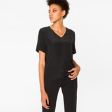 Paul Smith Women's Black Silk V-Neck Top