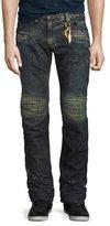 Robin's Jeans Motard Distressed Denim Jeans, Dirty Brown