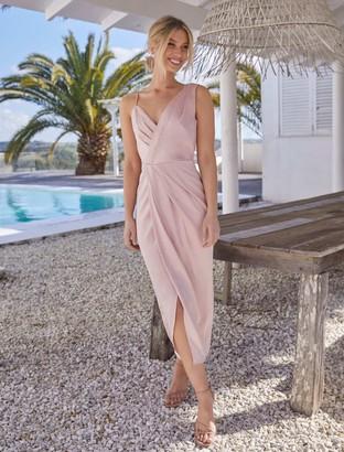 Forever New Natalie Column Dress - Blush - 10