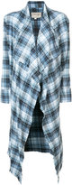 Greg Lauren asymmetric checked cardigan