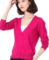 Panreddy Women's Wool Cashmere Classic Cardigan V-Neck L