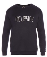 The Upside Flocked-logo jersey sweatshirt