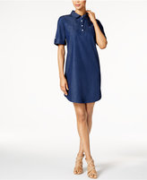 Karen Scott Cotton Denim Shirtdress, Only at Macy's