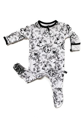 Peregrine Kidswear Floral Fitted One-Piece Pajamas