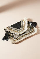 Anthropologie Leela Embroidered Clutch