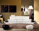 Vig Furniture K-1295B White Full Leather Sectional Sofa Set