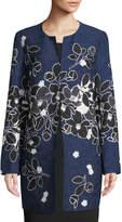 Karl Lagerfeld Paris Floral Jacquard Topper Jacket