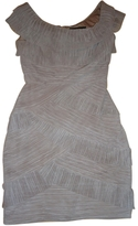 BCBGMAXAZRIA Beige Polyester Dress