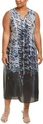Nic+Zoe Plus Silk-Blend Maxi Dress