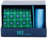 Ike Behar Eugene Squares Silk Tie & Handkerchief