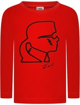 Karl Lagerfeld Boys Red Kameo Print Top