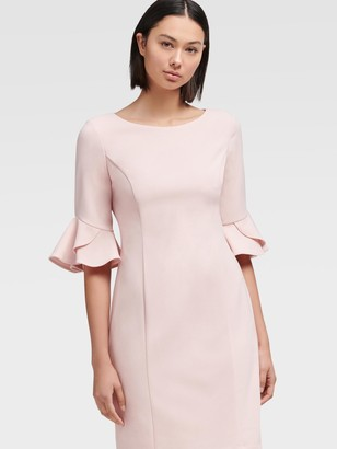 DKNY Women's Bell Sleeve Midi Sheath Dress - Bloom - Size 12