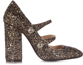 No.21 NO. 21 Mary-Jane glitter pumps