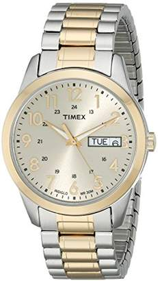 Timex Men's T2M935 South Street Sport Stainless Steel Expansion Band Watch