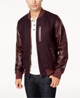Tommy Hilfiger Men's Cascade Leather-Sleeve Jacket
