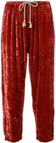 Forte Forte velour cropped track pants - women - Silk/Viscose - 2