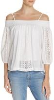 Freeway Cold Shoulder Crochet Inset Top