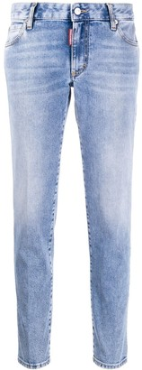 DSQUARED2 Bleached Straight-Leg Jeans