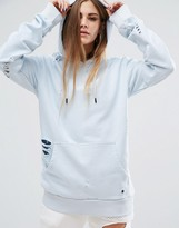 Criminal Damage Oversized Hoodie With Distressing Co-Ord