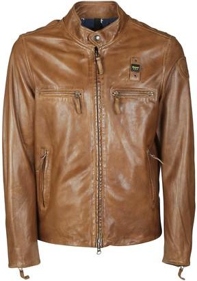 Blauer Multi-zip Buttoned Collar Jacket