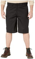 Dickies Big Tall 13 Flat Front Active Waist Shorts Regular Fit (Black) Men's Shorts