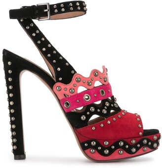 Alaïa Pre-Owned Studded Colour-Block Sandals