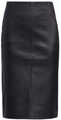 Saks Fifth Avenue COLLECTION Leather Pencil Skirt