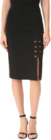 Yigal Azrouel Eyelet Lace Detail Skirt