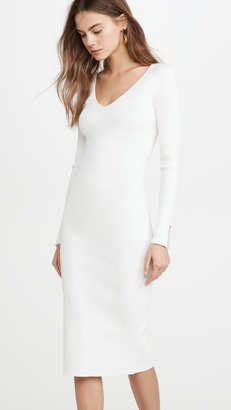 Jonathan Simkhai Deep Rib Open Neck Dress
