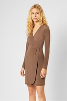French Connection Slinky Jersey Long Sleeve Wrap Dress