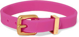 Marc by Marc Jacobs Gold-tone rubber bracelet