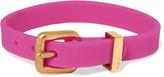 Marc by Marc Jacobs Gold-tone rubber bracelet