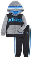 adidas Boys' Colorblock Fleece Warmup Jacket & Jogger Set - Sizes 2T-3T