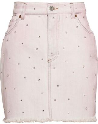 Miu Miu Bleached-Effect Denim Skirt