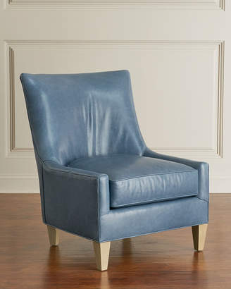 Bryan Modern Leather Wing Chair
