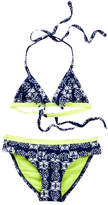Snapper Rock Navy Citron Fringe Bikini (Toddler, Little Girls, & Big Girls)