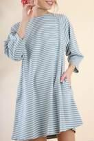 Umgee USA Striped Blue Dress