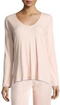 Skin Organic Long-Sleeve Lounge Top, Boudoir/Pink Puff