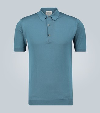 John Smedley Sea Island knitted cotton polo shirt