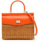 Rodo Wicker And Leather Bag