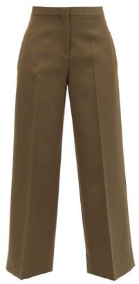 Jil Sander Pleated Wool Wide-leg Trousers - Green