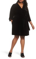 Eileen Fisher Plus Size Women's Velvet Wrap Dress